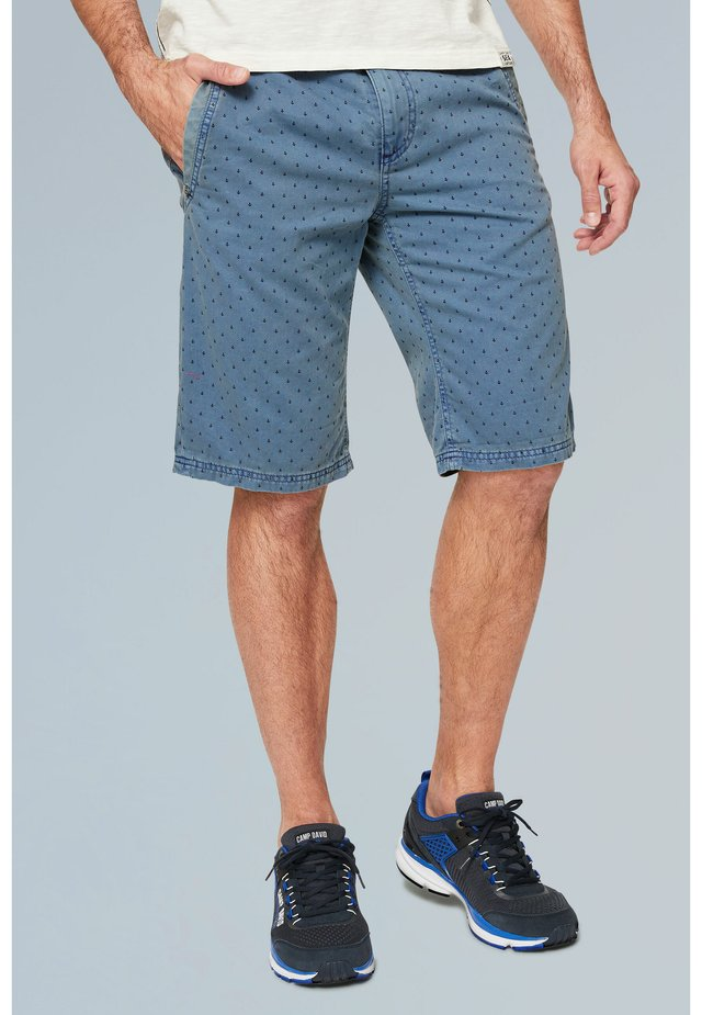 MIT ALL OVER PRINT - Shorts - blue