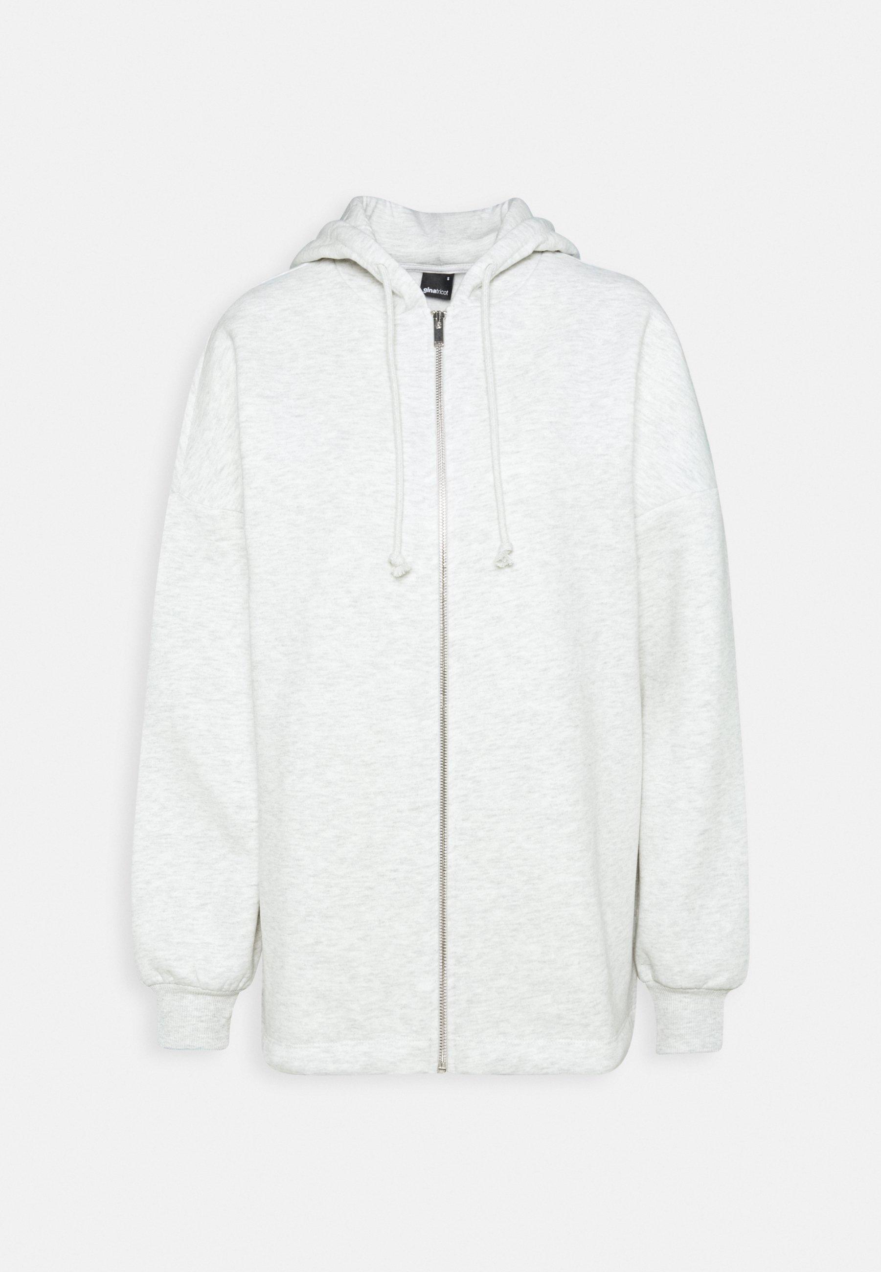 Women FELICIA ZIP JACKET - Zip-up sweatshirt - grey melange