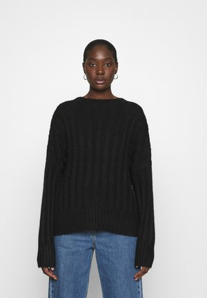 WIDE RIB - Jumper - black