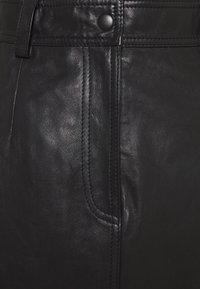 EDITED - CARA SKIRT - Leather skirt - schwarz - 2