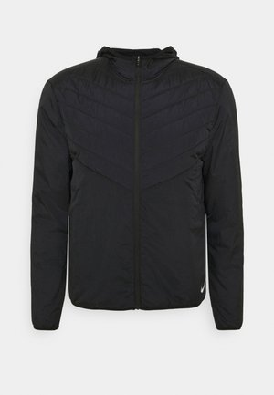 AROLYR JACKET - Hardloopjack - black/reflect silver