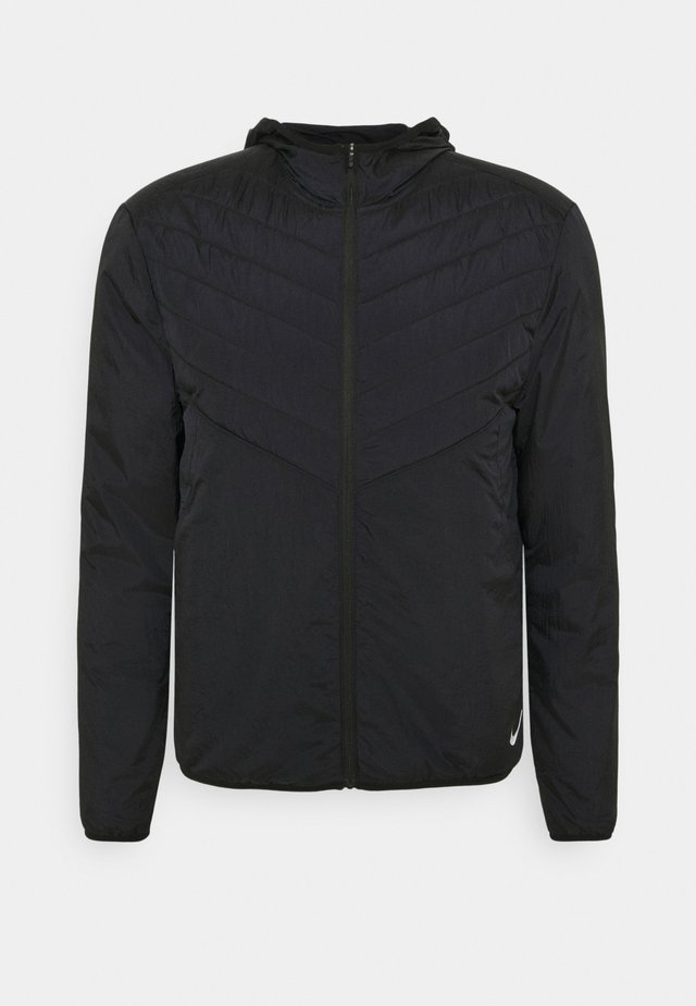 AROLYR JACKET - Laufjacke - black/reflect silver