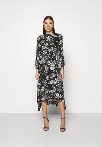 Dorothy Perkins - LARGEFLORAL HEMMIDI DRESS - Kjole - black - 0