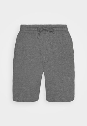 LOUNGE STRIPED SHORTS - Bas de pyjama - mottled dark grey/mottled grey
