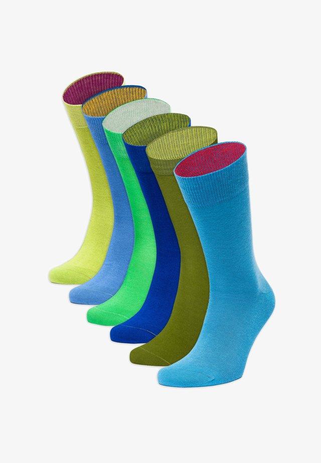 6PACK - Socks - grün,blau