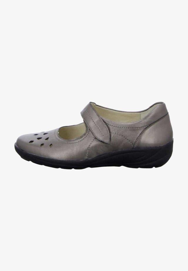 Ankle strap ballet pumps - bronce