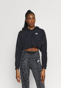 Nike Performance - AIR JACKET CROP - Outdoor jacket - black/reflective silver - 0
