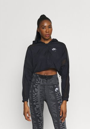 AIR JACKET CROP - Chaqueta outdoor - black/reflective silver