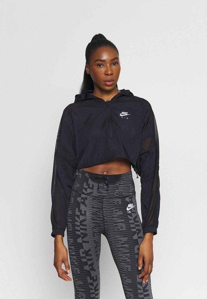 Nike Performance - AIR JACKET CROP - Outdoor jacket - black/reflective silver