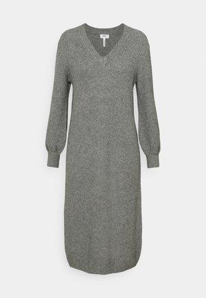 OBJMALENA DRESS - Jumper dress - medium grey melange