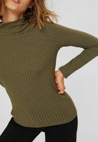 Esprit - HIGHNECK - Long sleeved top - dark khaki - 3