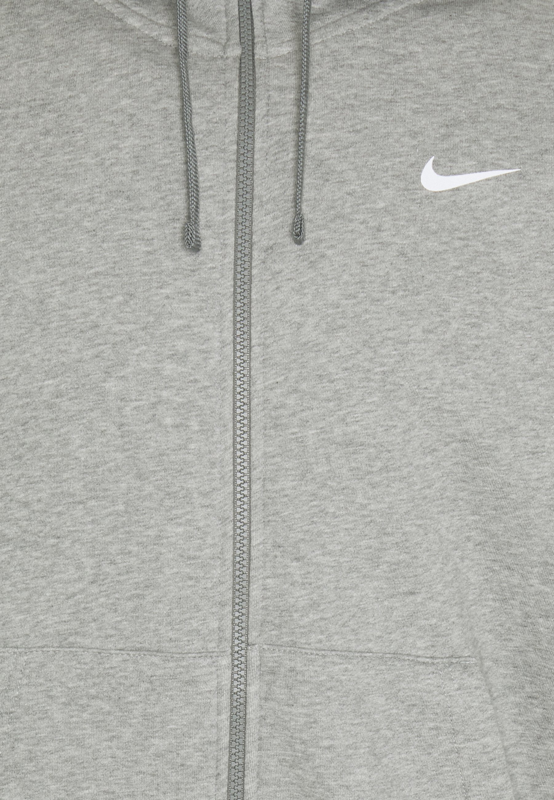 Nike Sportswear Repeat Hoodie - Hettejakke Dark Grey Heather/white/mørkegrå-melert
