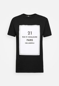 KARL LAGERFELD - SQUARE ADDRESS LOGO - Print T-shirt - black - 4
