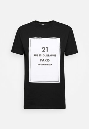 SQUARE ADDRESS LOGO - Print T-shirt - black