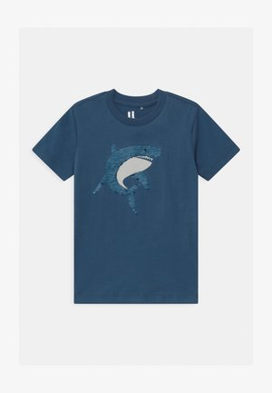 DOWNTOWN SHORT SLEEVE  - Print T-shirt - petty blue