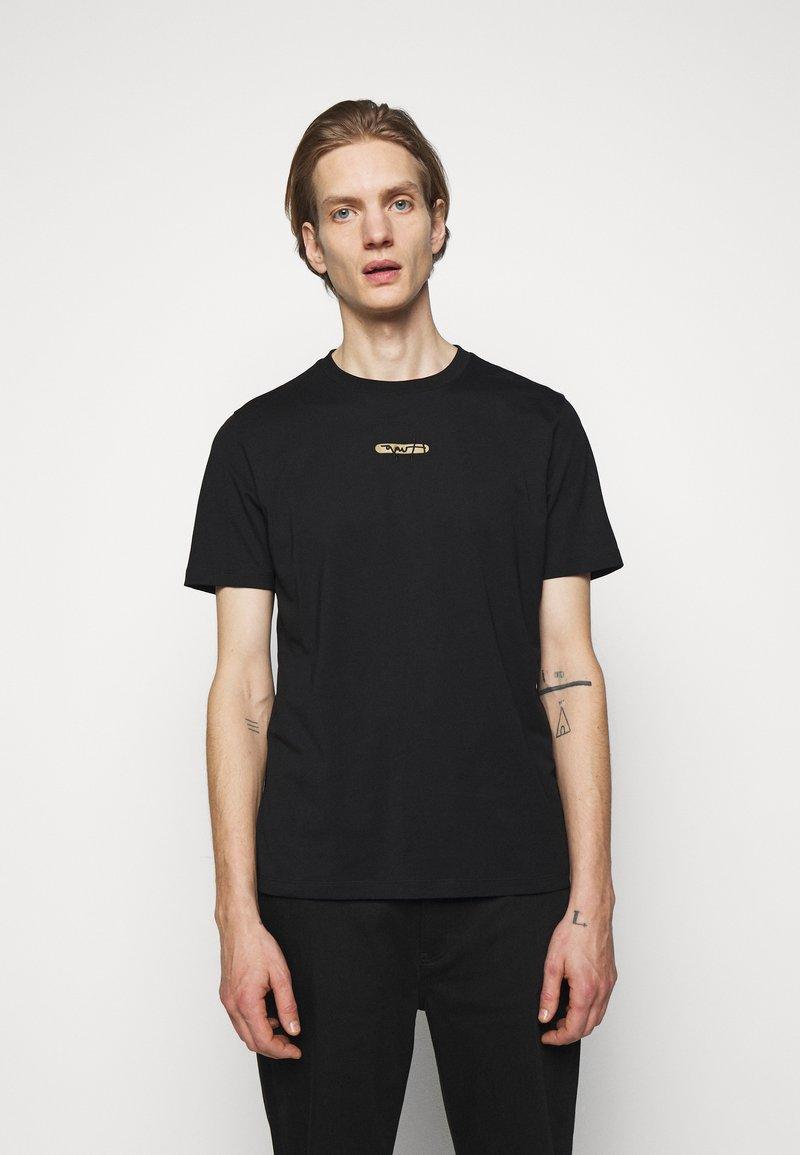 HUGO - DURNED - T-shirt con stampa - black