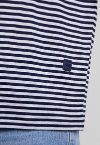 G-Star - VIM LOOSE - Print T-shirt - grey htr/mazarine blue stripe - 5