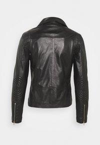 Goosecraft - VICK BIKER - Leather jacket - black - 8