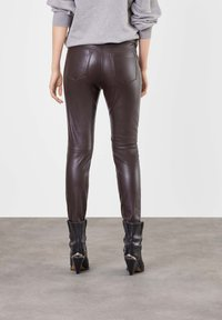 MAC - Leather trousers - brown - 1