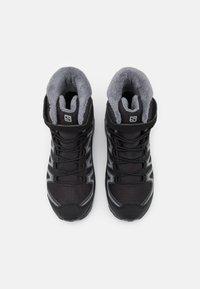 Salomon - XA PRO V8 WINTER CSWP UNISEX - Winter boots - black/phantom/quiet shade - 3