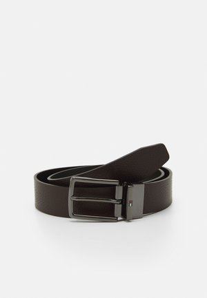 DENTON - Belt - black/testa di moro