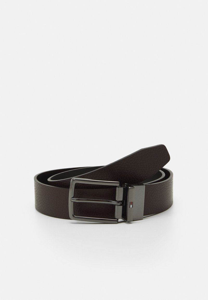 Tommy Hilfiger - DENTON - Belt - black/testa di moro
