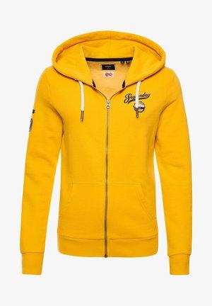 SCRIPT STYLE COLLEGE - Zip-up sweatshirt - golden rod