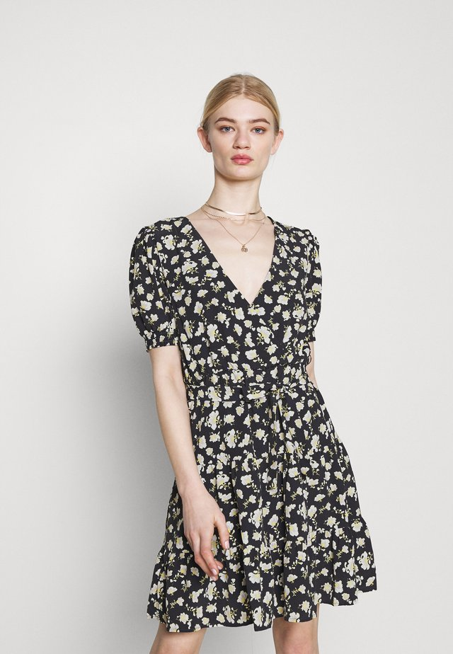 VIBELLE SHORT DRESS - Robe d'été - black