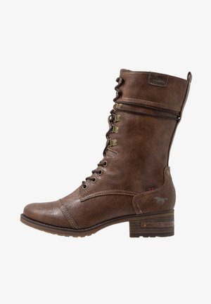 Lace-up boots - mittelbraun
