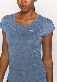 Salewa - PUEZ DRY TEE - T-shirts print - poseidon melange - 5