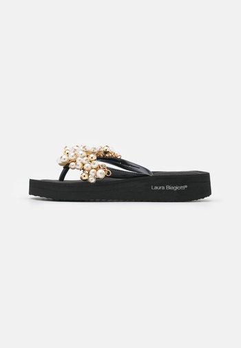 T-bar sandals - eva black