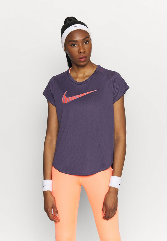 ICON CLASH RUN  - T-shirt imprimé - dark raisin