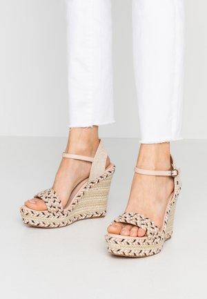 OHARA LOGO - High heeled sandals - pale pink