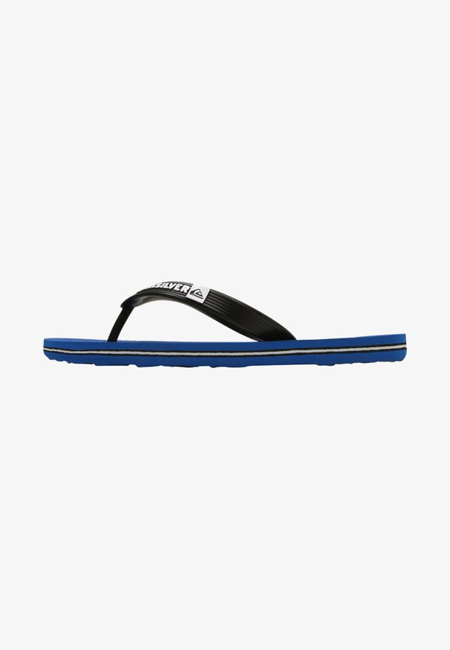 MOLOKAI - T-bar sandals - black/blue