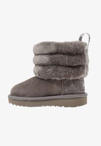UGG - FLUFF MINI QUILTED - Bottines - charcoal - 1