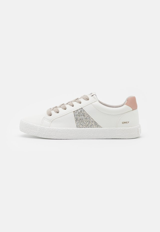 ONLSUNNY SIDE STRIPE - Sneakers laag - white/pink