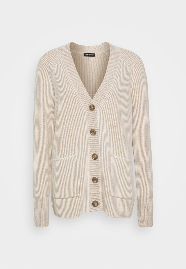 CARDIGAN - Strickjacke - sand/cream