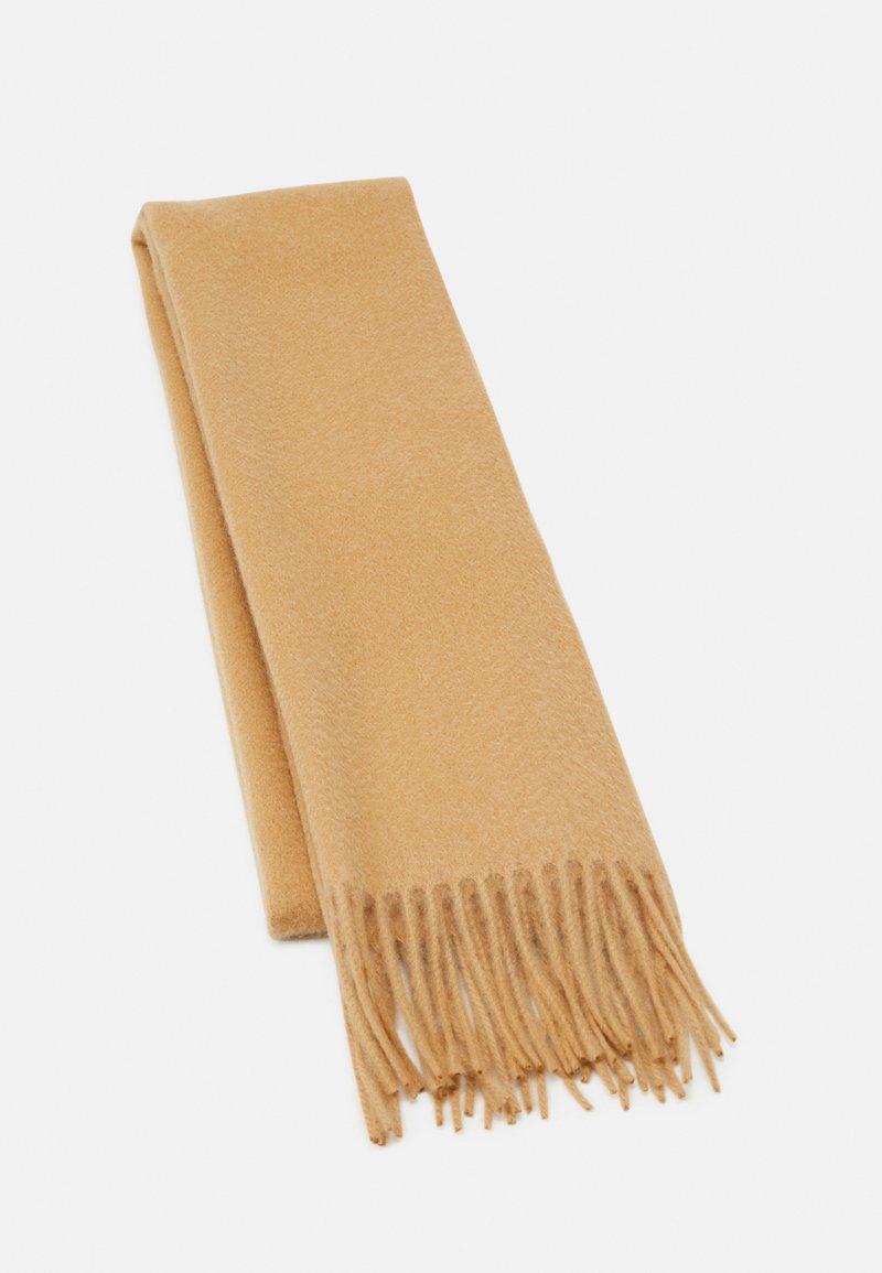 Johnstons of Elgin - 100% Cashmere Scarf UNISEX - Scarf - camel
