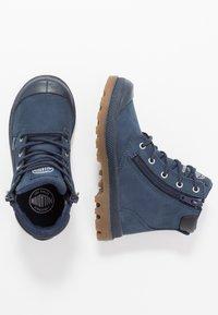 Palladium - HI CUFF WP - Šněrovací kotníkové boty - mood indigo - 0