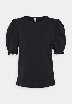 ONLDREA LIFE PUFF SMOCK - Print T-shirt - black