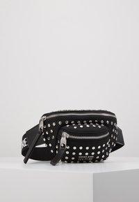 Versace Jeans Couture - STUDDED BUM BAG - Bum bag - black - 0