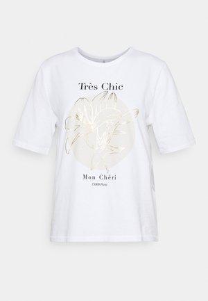 ONLBELINDA LIFE BOXY - T-shirt print - bright white/chic
