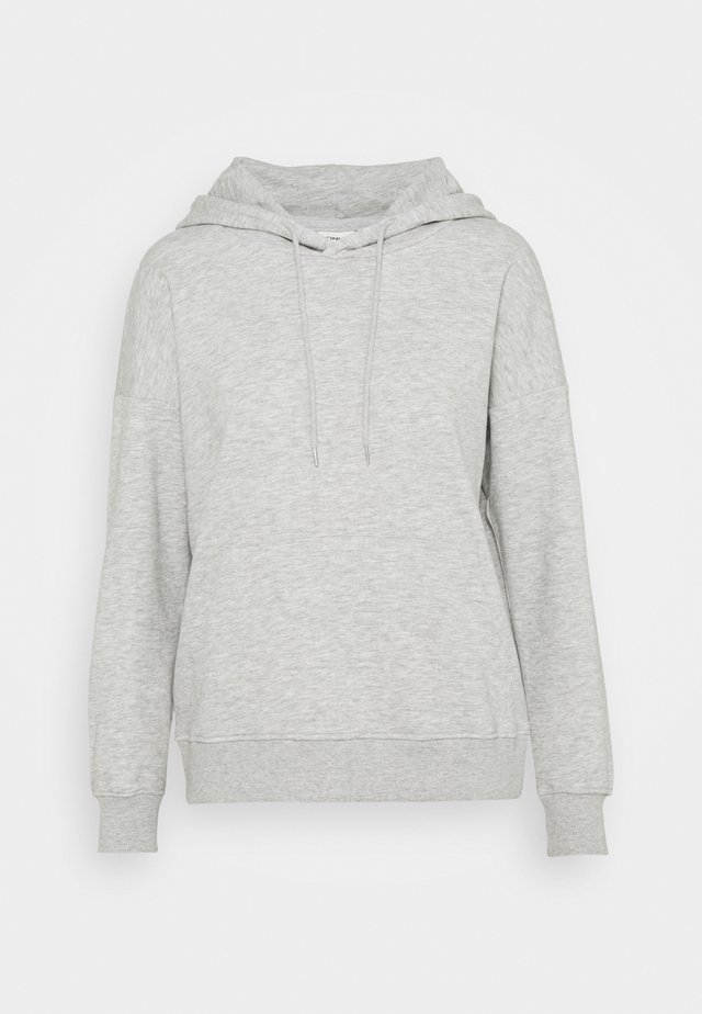 ONLFEEL LIFE HOOD  - Bluza - light grey melange