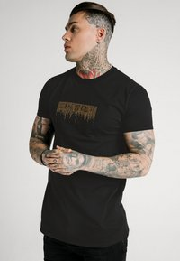 SIKSILK - CREEP TEE - Print T-shirt - black - 0