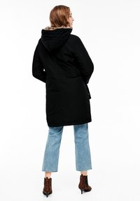 s.Oliver - MIT PLÜSCH-DETAILS - Winter coat - black - 2