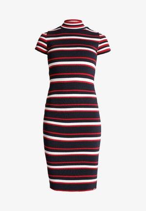 SPORTY STRIPED DRESS - Etui-jurk - eclipse navy