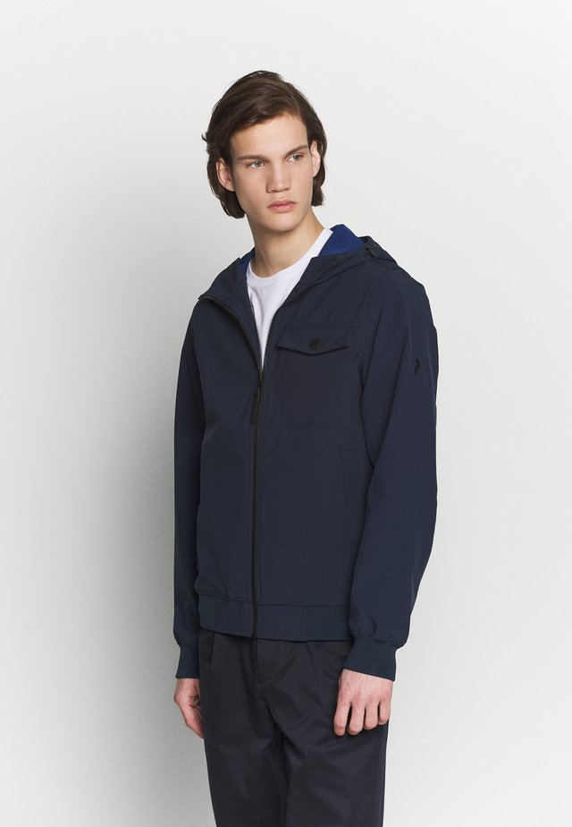 HOOD JACKET - Summer jacket - blue shadow
