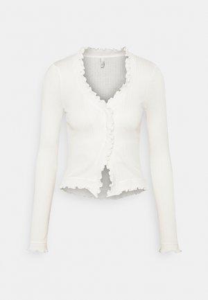 FRILL EDGE - Cardigan - white