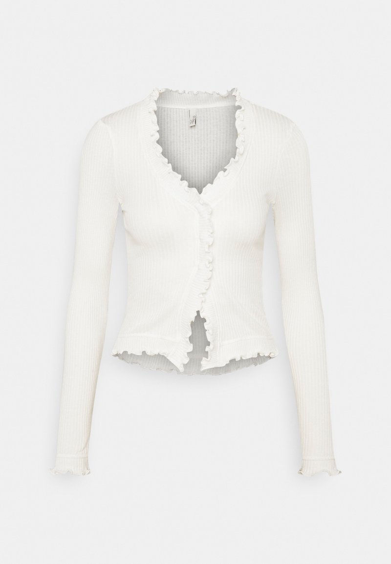 Nly by Nelly - FRILL EDGE - Cardigan - white