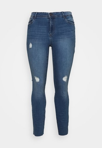 VMTANYA CUT - Jeans Skinny Fit - medium blue denim